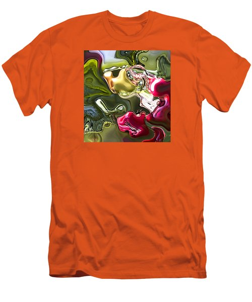 Men's T-Shirt (Slim Fit) featuring the painting Naturescape by Richard Thomas