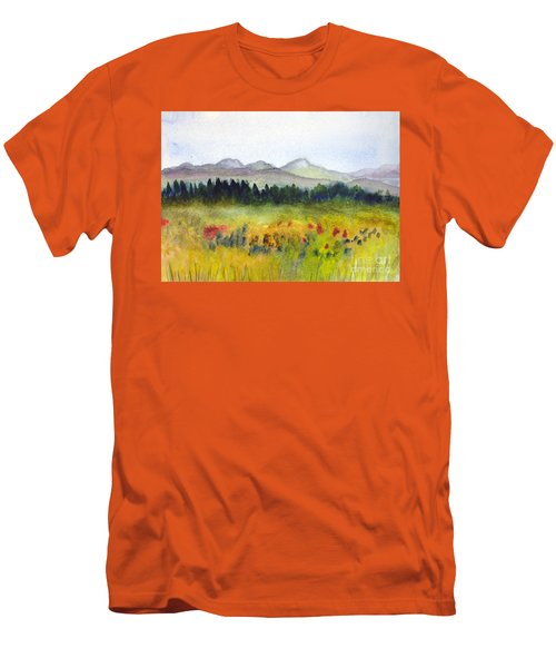 Nek Mountains And Meadows Men's T-Shirt (Slim Fit) by Donna Walsh