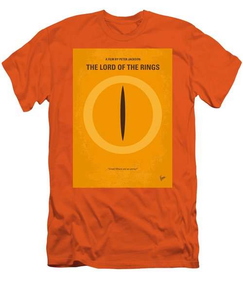 No039 My Lord Of The Rings Minimal Movie Poster Men's T-Shirt (Slim Fit) by Chungkong Art