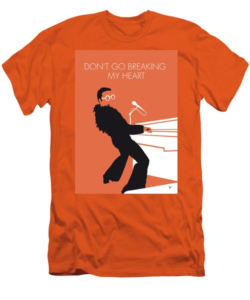 No053 My Elton John Minimal Music Poster Men's T-Shirt (Athletic Fit)