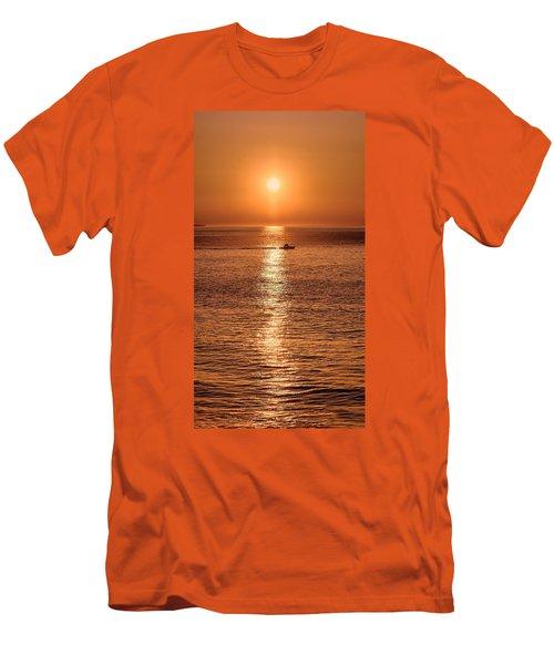Ocean Sunrise At Montauk Point Men's T-Shirt (Athletic Fit)