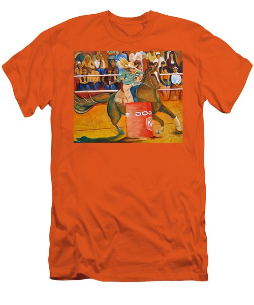 Men's T-Shirt (Slim Fit) featuring the painting On A Dime by Joshua Morton