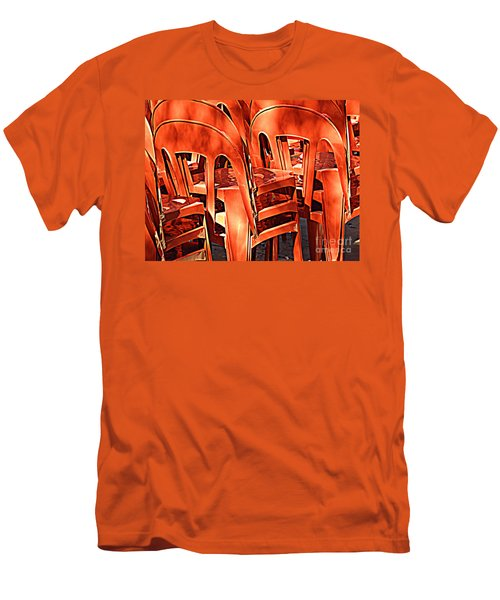 Orange Chairs Men's T-Shirt (Slim Fit) by Valerie Reeves