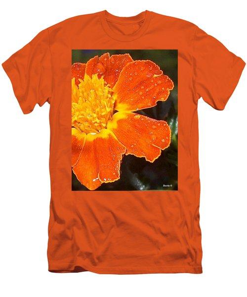 Orange Flower Men's T-Shirt (Slim Fit)