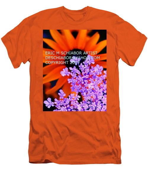 Orange Lavender Flower Men's T-Shirt (Athletic Fit)