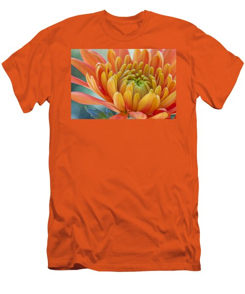 Orange Mum Closeup Men's T-Shirt (Athletic Fit)