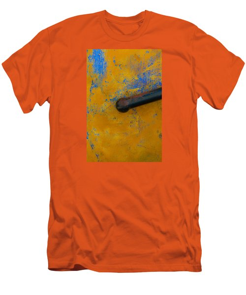 Orange On Blue Men's T-Shirt (Slim Fit) by Edgar Laureano