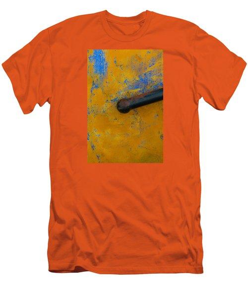 Orange On Blue Men's T-Shirt (Athletic Fit)