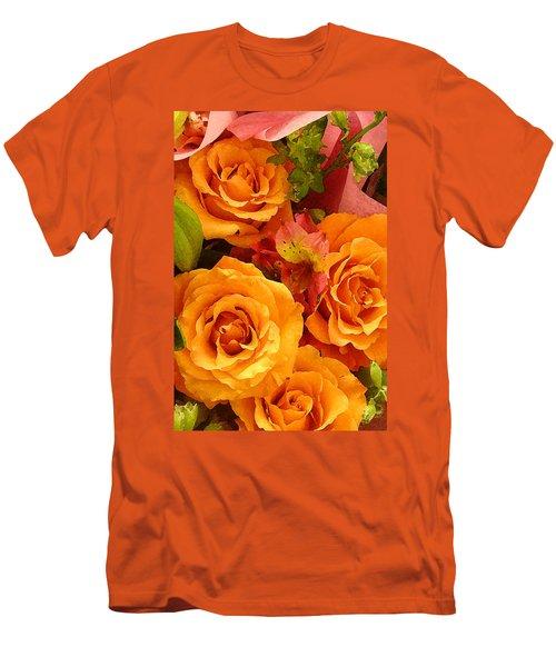 Orange Roses Men's T-Shirt (Athletic Fit)