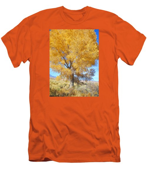 Men's T-Shirt (Slim Fit) featuring the photograph Orange Serenade by Marilyn Diaz