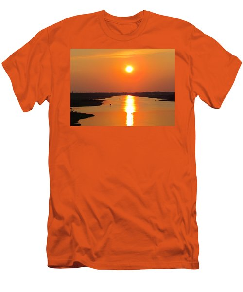 Men's T-Shirt (Slim Fit) featuring the photograph Orange Sunset by Cynthia Guinn