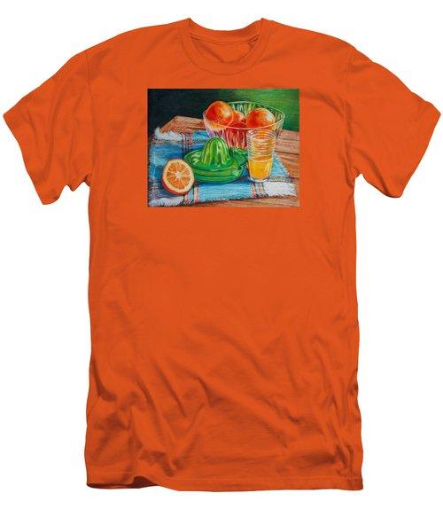 Oranges Men's T-Shirt (Slim Fit) by Joy Nichols