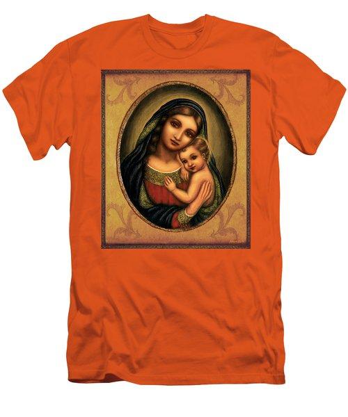 Oval Madonna  Men's T-Shirt (Slim Fit) by Ananda Vdovic