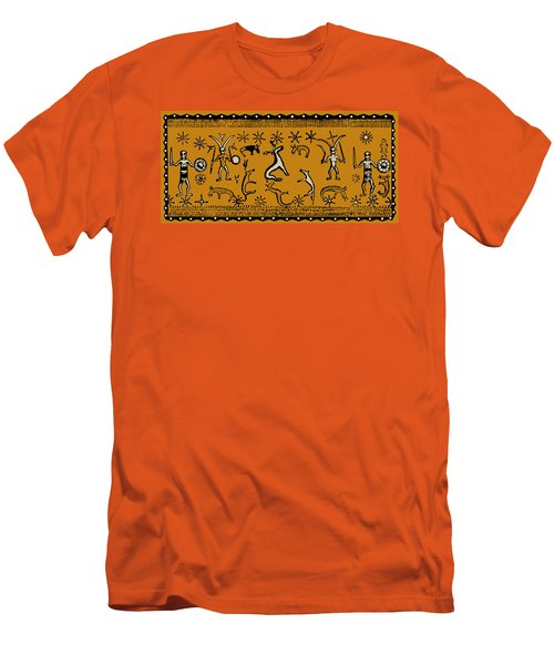 Men's T-Shirt (Slim Fit) featuring the digital art Pagan Rituals by Vagabond Folk Art - Virginia Vivier