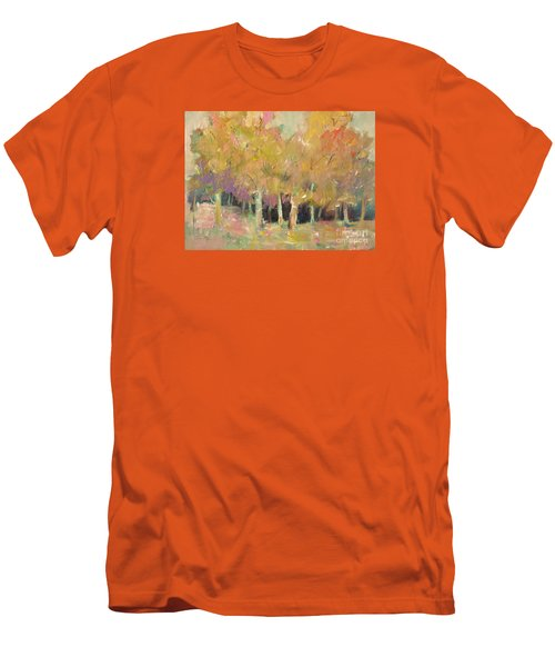 Men's T-Shirt (Slim Fit) featuring the painting Pale Forest by Michelle Abrams