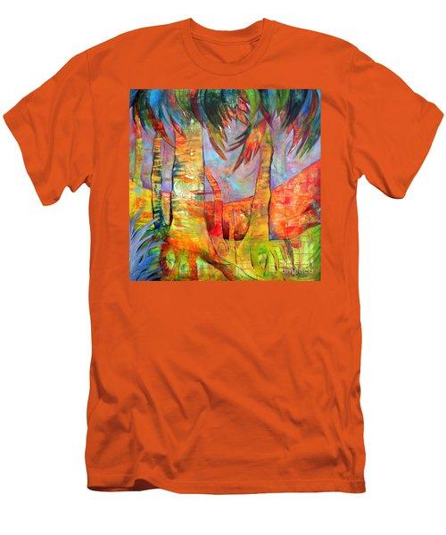 Palm Jungle Men's T-Shirt (Slim Fit) by Elizabeth Fontaine-Barr