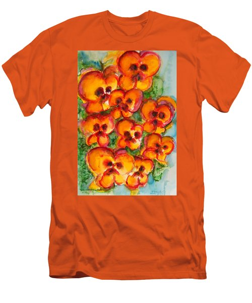 Pansies Love Us Men's T-Shirt (Athletic Fit)