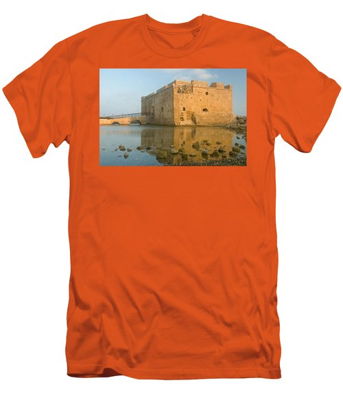 Paphos Harbour Castle Men's T-Shirt (Athletic Fit)