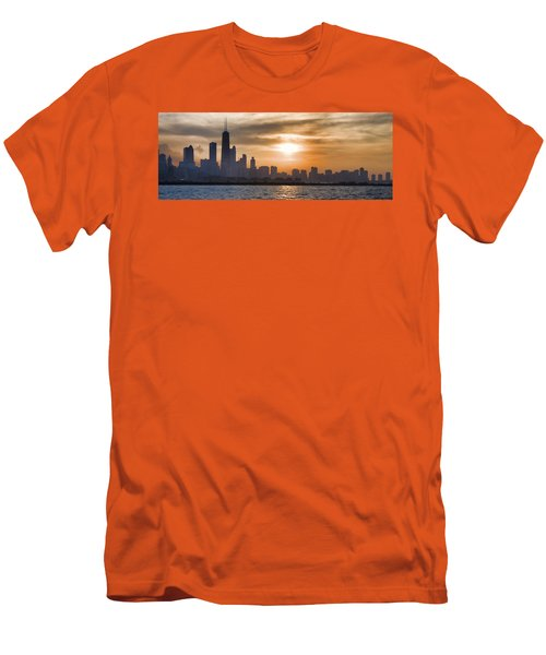 Men's T-Shirt (Slim Fit) featuring the photograph Peaceful Chicago by John Hansen