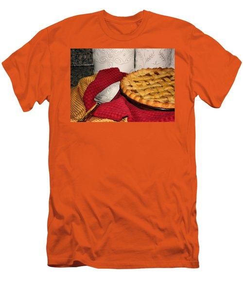Men's T-Shirt (Slim Fit) featuring the photograph Peach Pie by Kristin Elmquist