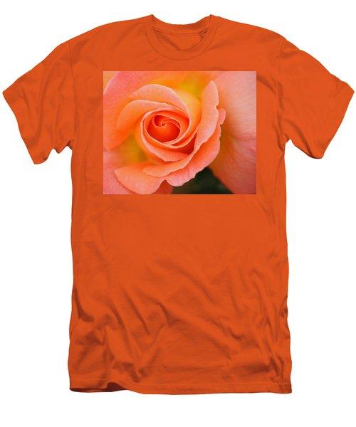 Petals Of Peach Men's T-Shirt (Slim Fit) by Rowana Ray
