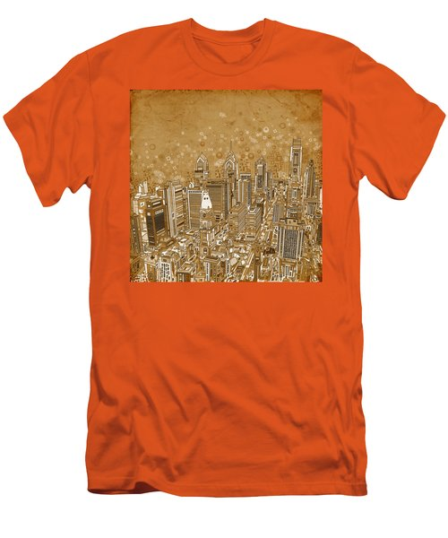 Philadelphia Panorama Vintage Men's T-Shirt (Athletic Fit)