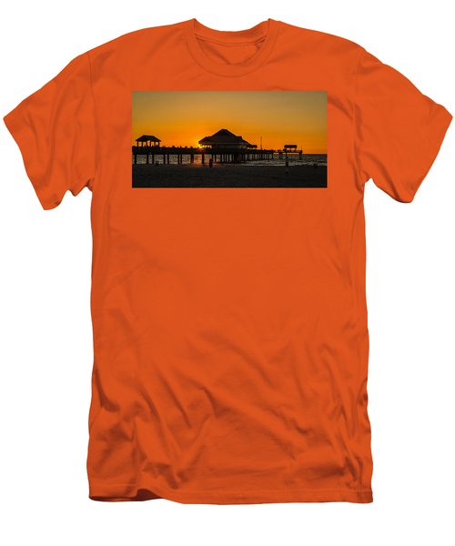 Pier 60 Sunset Men's T-Shirt (Athletic Fit)