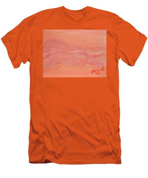 Pink Nude On Orange Men's T-Shirt (Slim Fit) by David Trotter