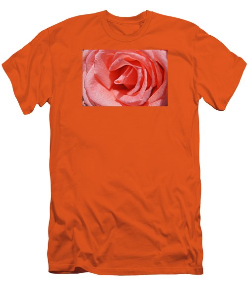 Men's T-Shirt (Slim Fit) featuring the photograph Pink Rose by Kathy Churchman