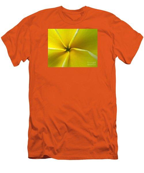 Pinwheel Plumeria Men's T-Shirt (Slim Fit) by Joy Hardee