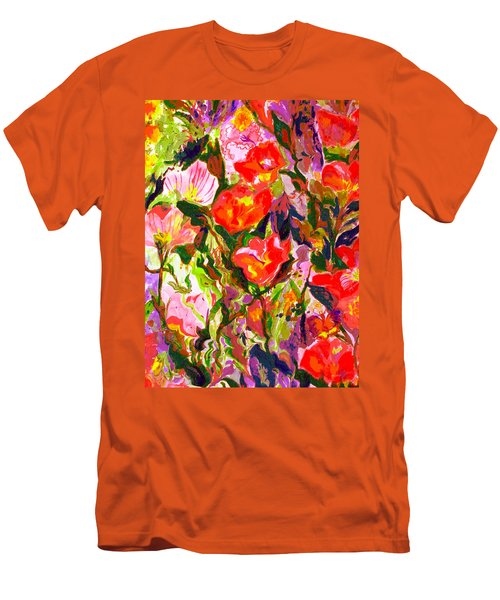 Poppies Men's T-Shirt (Slim Fit) by Beth Saffer