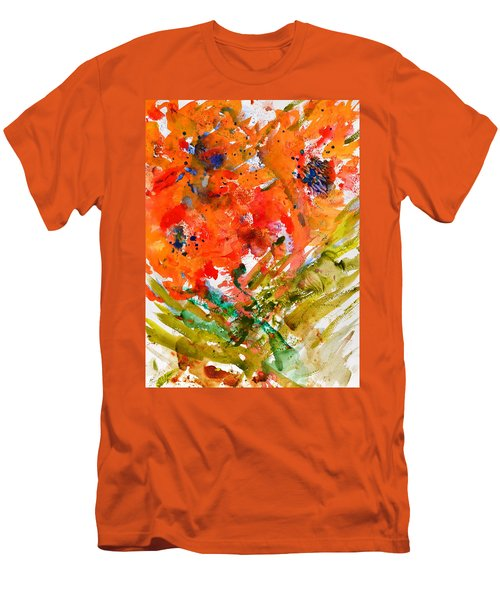 Poppies In A Hurricane Men's T-Shirt (Athletic Fit)