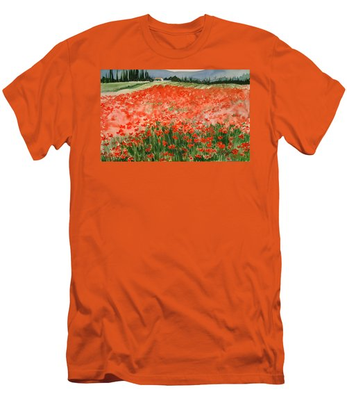 Poppy Field Men's T-Shirt (Athletic Fit)