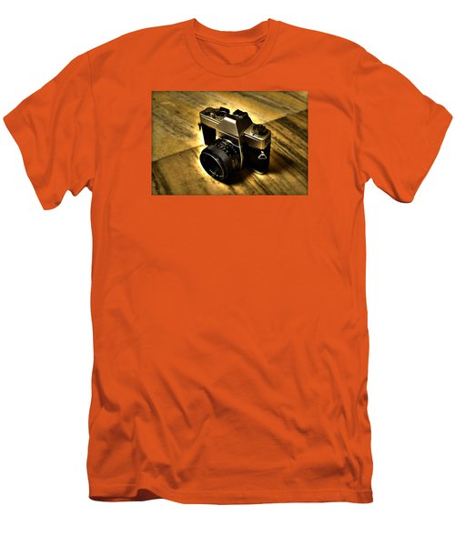 Men's T-Shirt (Slim Fit) featuring the photograph Porst Flex Slr by Salman Ravish