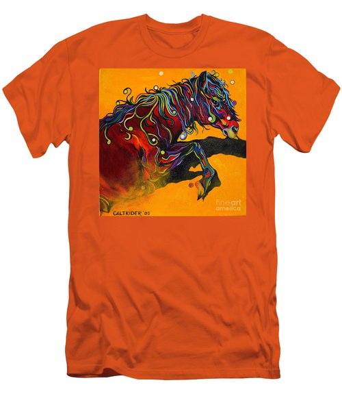 Men's T-Shirt (Slim Fit) featuring the painting Prelude To A Dance by Alison Caltrider