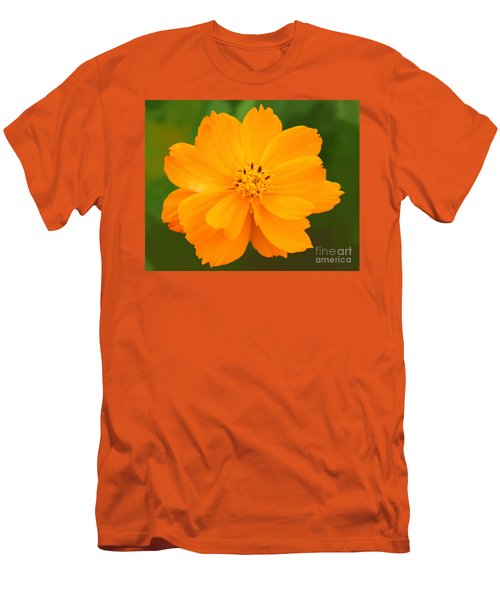 Men's T-Shirt (Slim Fit) featuring the photograph Pretty In Orange by Mariarosa Rockefeller