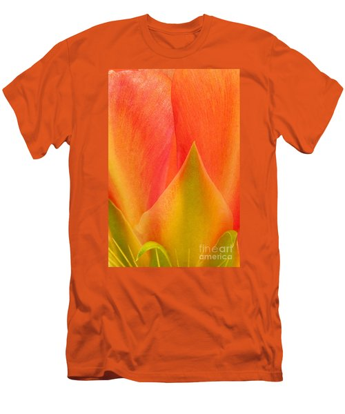 Men's T-Shirt (Slim Fit) featuring the photograph Prickly Pear Flower Petals Opuntia Lindheimeni In Texas by Dave Welling