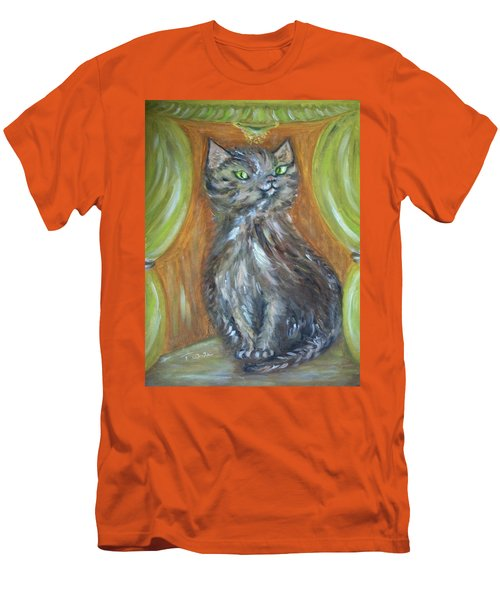 Men's T-Shirt (Slim Fit) featuring the painting Princess Kitty by Teresa White