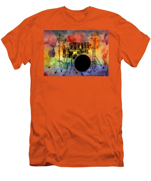 Psychedelic Drum Set Men's T-Shirt (Athletic Fit)