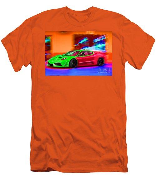 Men's T-Shirt (Slim Fit) featuring the photograph Psychedelic Ferrari by Gunter Nezhoda