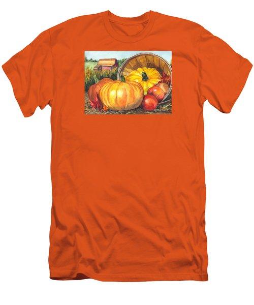 Pumpkin Pickin Men's T-Shirt (Slim Fit) by Carol Wisniewski