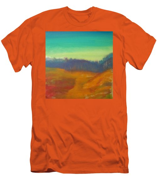 Men's T-Shirt (Slim Fit) featuring the painting Quiet by Keith Thue