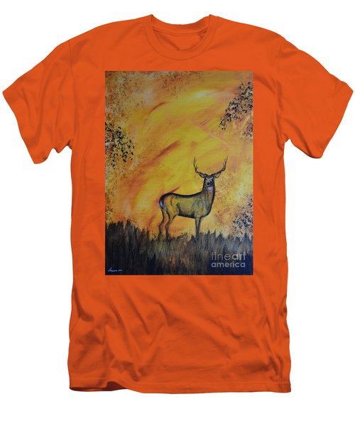 Quiet Time3 Men's T-Shirt (Slim Fit) by Laurianna Taylor