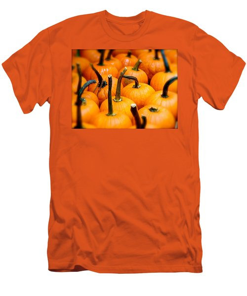 Men's T-Shirt (Slim Fit) featuring the photograph Rainy Day Pumpkins by Ira Shander