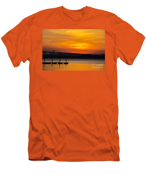 Men's T-Shirt (Slim Fit) featuring the photograph Orange Blaze by Dale Powell