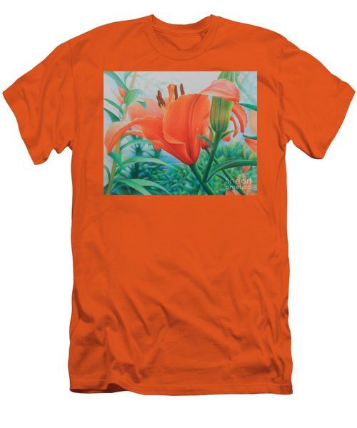 Men's T-Shirt (Slim Fit) featuring the painting Reach For The Skies by Pamela Clements