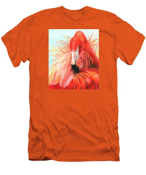 Red Flamingo Men's T-Shirt (Athletic Fit)