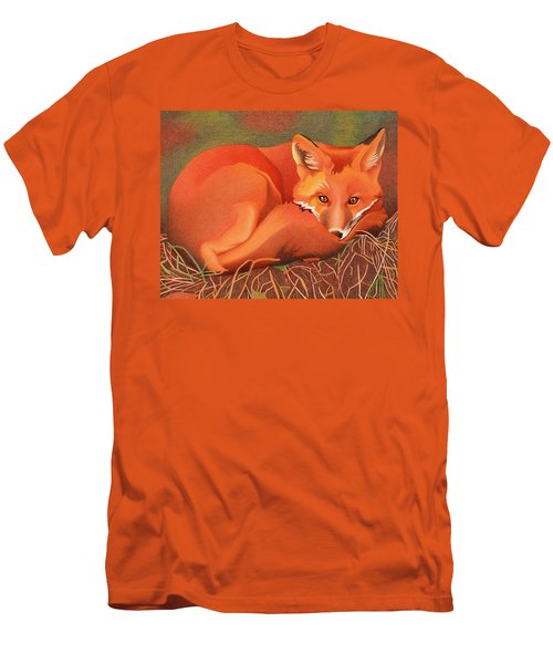 Red Fox Men's T-Shirt (Slim Fit) by Dan Miller