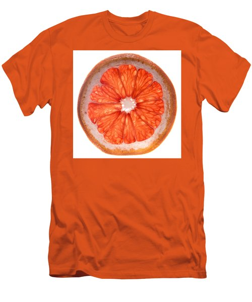 Red Grapefruit Men's T-Shirt (Slim Fit) by Steve Gadomski