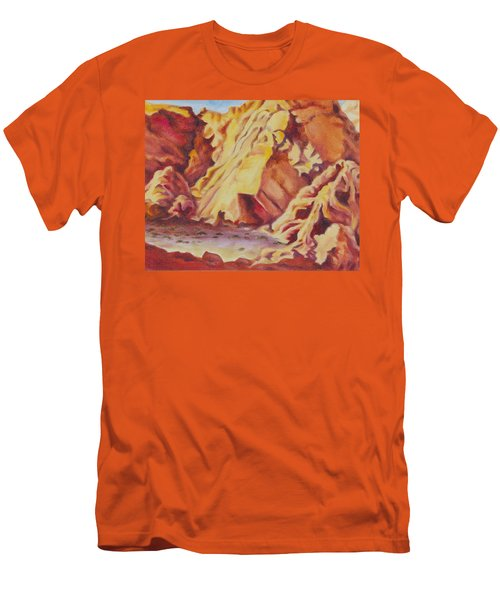 Men's T-Shirt (Slim Fit) featuring the painting Red Rocks by Michele Myers